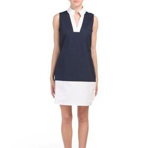 SAIL TO SABLE Women Color Block Cotton Tunic Dress
